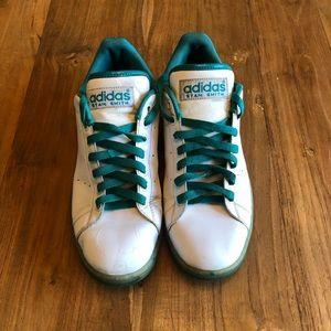 Adidas Stan Smith White Turquoise Shoes Men's 10.5